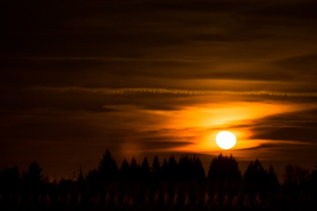 Moonrise Over Canby